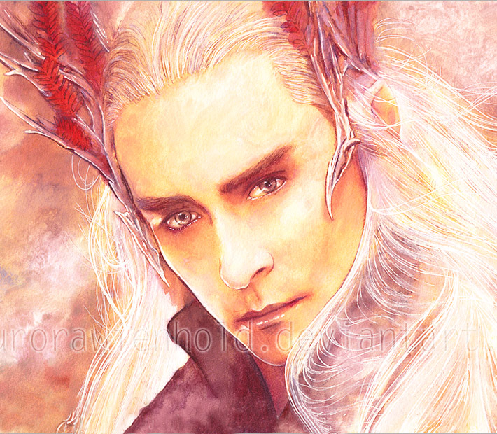 Thranduil watercolor painting by Aurora Wienhold