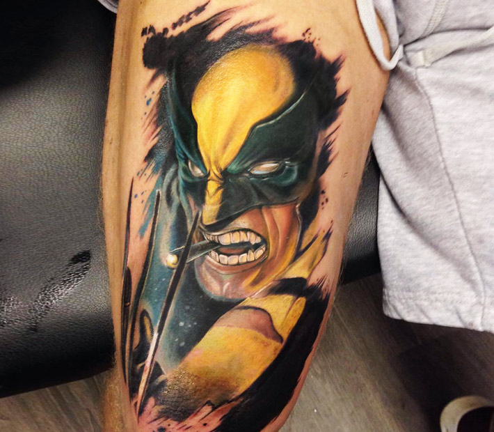 Wolverine tattoo by Brasso Tattoo