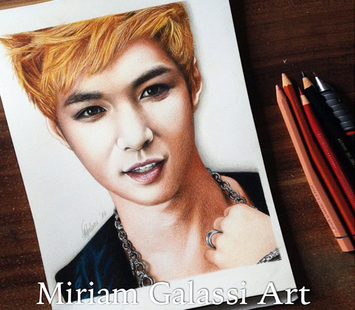 Lay color drawing portrait by Miriam Galassi