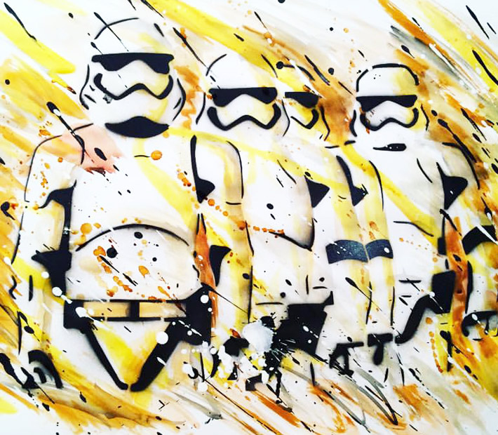 Stormtroopers Fan art Painting