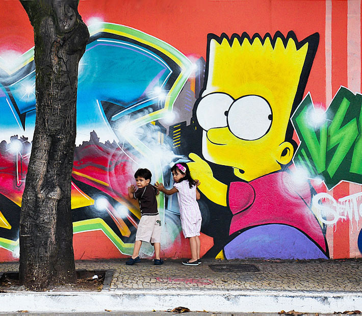 Graffiti - Bart Simpson by Unknown Artist