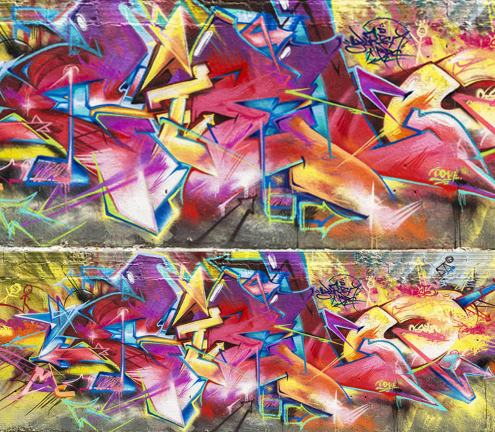 Graffiti wall by Yurika