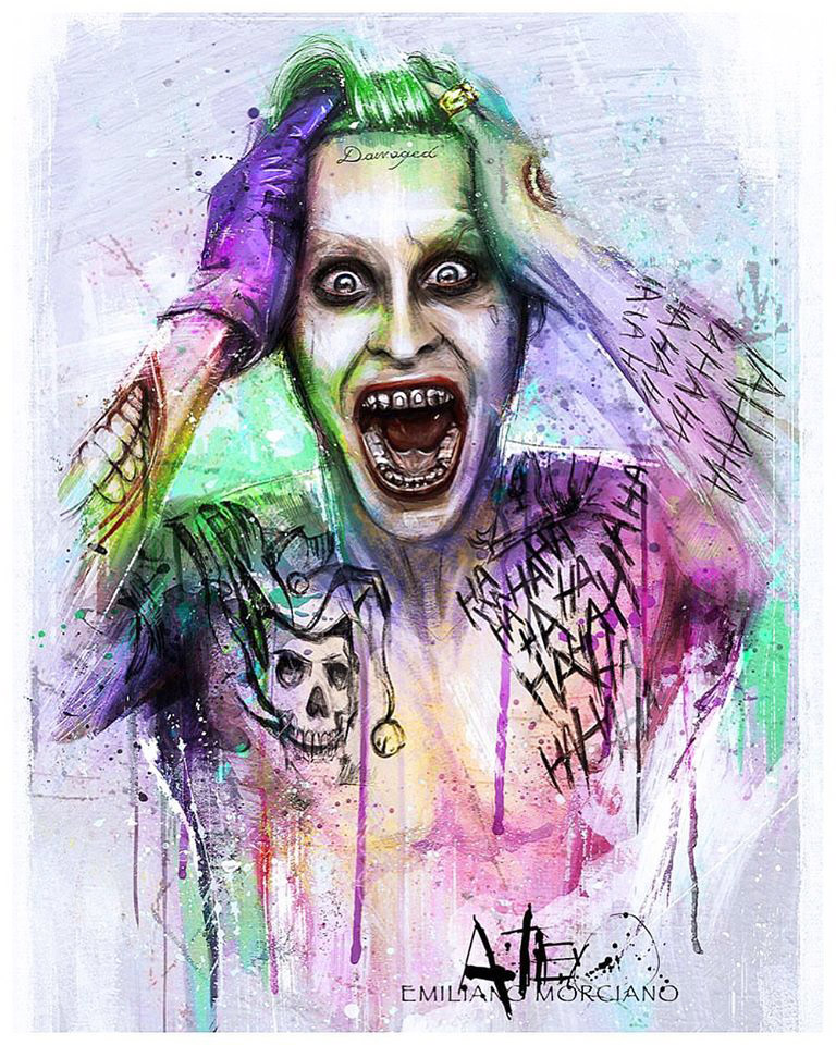 The Joker Painting By Emiliano Morciano